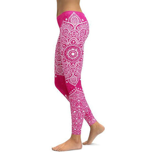 Mandala Fitness Yoga Pants Women Sports Leggings - bohemian earth