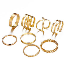 Load image into Gallery viewer, Bohemian Vintage Gold Color Knuckle 10 pcs Rings Set - bohemian earth