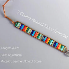 Load image into Gallery viewer, Bohemian Handmade 7 Chakra Natural Stone Bracelet - bohemian earth