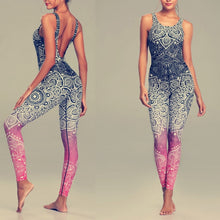 Load image into Gallery viewer, Mandala Print Elastic Quick Dry Yoga Sets - bohemian earth