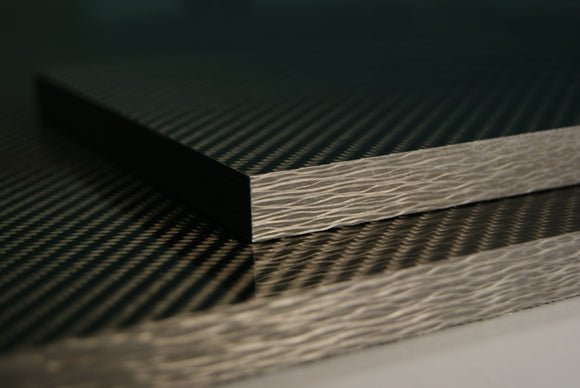 Carbon fiber composite sheets up to 1/2