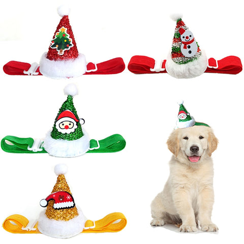 Christmas Party Hats for Cats and Dogs in Three Styles