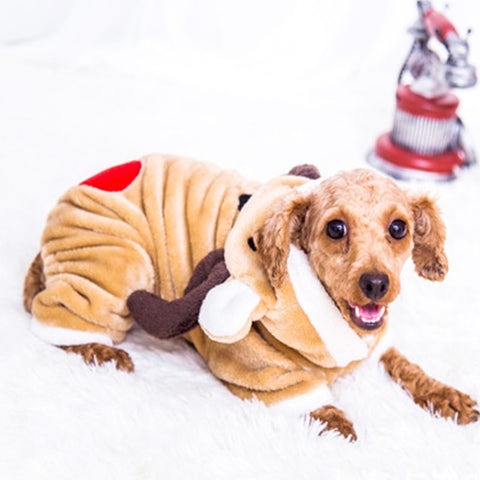 Reindeer Costume for cats and dogs with love heart