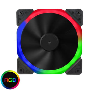 12Cm Halo Dual Ring 18 Led 120Mm Rgb Pc Cooling Fan - Case Fan
