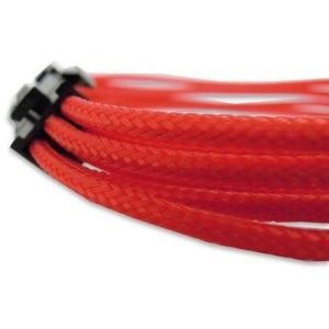 30Cm 6-Pin Pci-E Vga Sleeved Extension Braided Cable Red - Sleeved Cable