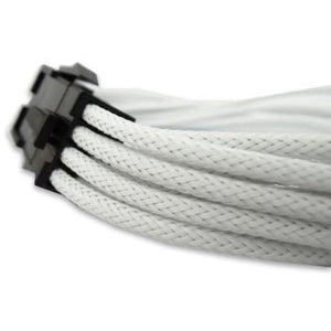 30Cm 6+2 Pin Pci-E Vga Sleeved Extension Braided Cable White - Sleeved Cable