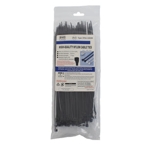 Black Cable Ties 200 x 2.5mm 100 Pack