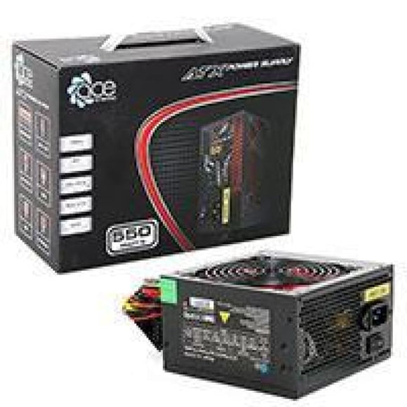 Ace 550W Br Black Psu With 12Cm Red Fan & Pfc