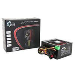 Ace 750W Br Black Psu With 12Cm Red Fan & Pfc