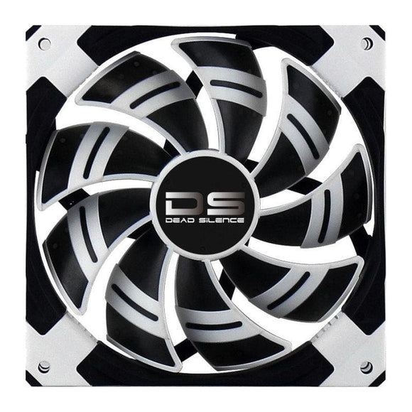 Aerocool Dead Silence 14Cm White Led Fan Dual Material/colour Fdb Fan 10.8Dba Retail - Case Fan