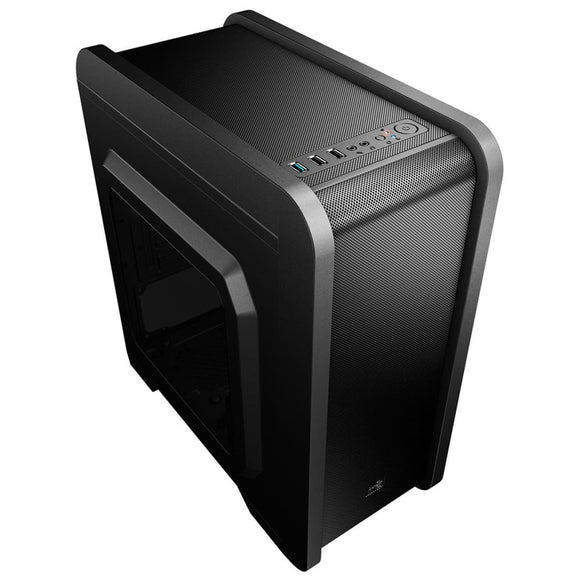 Aerocool Qs240 Gaming M-Atx Case Usb3 Black Interior With Side Window