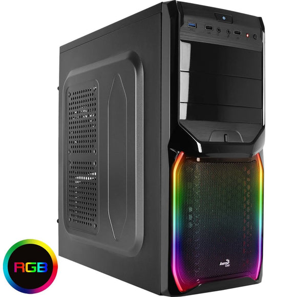 Aerocool V3X Black Rgb Mid-Tower Gaming Case
