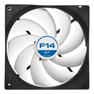 Arctic F14 14Cm Case Fan Black & White 9 Blades Fluid Dynamic - Case Fan