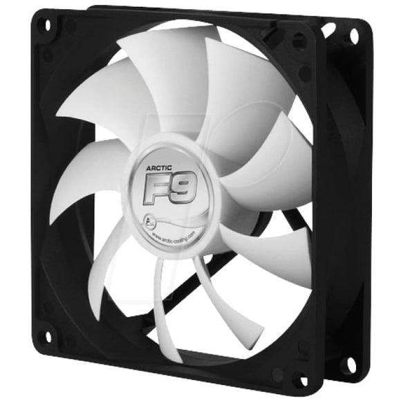 Arctic F9 9.2Cm Case Fan Black & White 9 Blades Fluid Dynamic - Case Fan