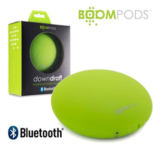 Boompods Downdraft Portable Travel Bluetooth Wireless Speaker Green - Speakers