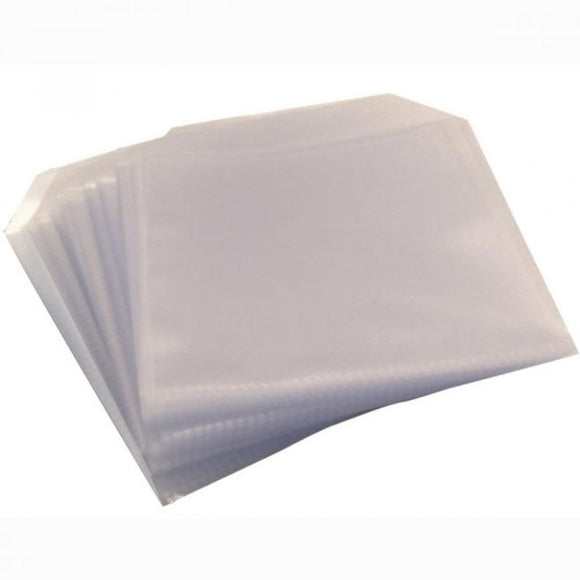 Cd/dvd Pvc Sleeves 100 Micron 100 Packs - Blank Media