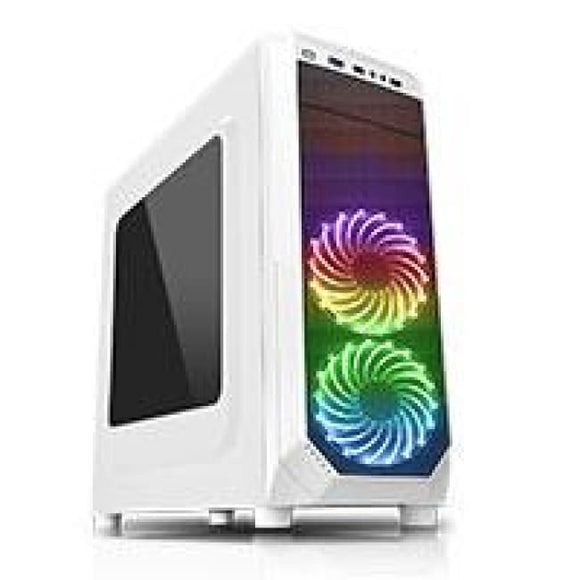 Cit Prism White Rgb Case With 2 X Rgb Front Fans 1 X Usb 3.0 & Side Window
