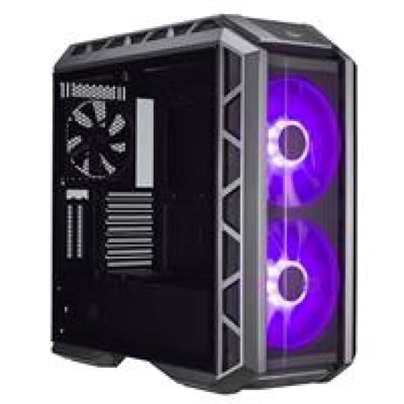 Cooler Master Mastercase H500P Full Tower 2 X Usb 3.0 / 2 X Usb 2.0 Tempered Glass Side Window Panel Gun Metal & Black Case With Rgb Led