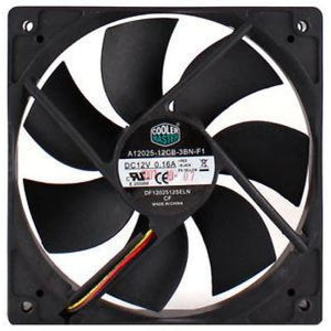 Coolermaster A12025-12Cb-3Bn-F1 Black 120Mm 12Cm Pc Cooling Fan Case / Cpu Fan - Case Fan