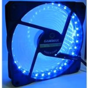 Evo Labs Vegas 12Cm 9 Blade 32 X Led Blue Fan 1000Rpm With Rubber Grommet