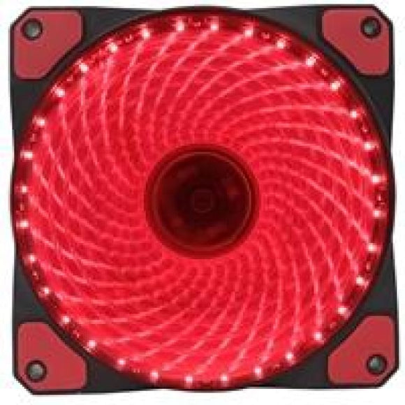 Evo Labs Vegas 12Cm 9 Blade 32 X Led Red Fan 1000Rpm With Rubber Grommet