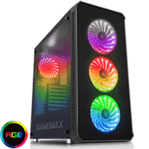 Game Max Moonstone Rgb Mid Tower 4X12Cm Rgb Fans 2X Side 1X Front Glass Panels Eta. 6Th Of June