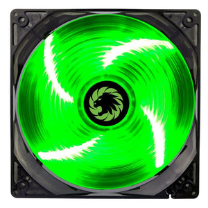 Game Max Sirocco 4 X Green Led 12Cm Cooling Fan