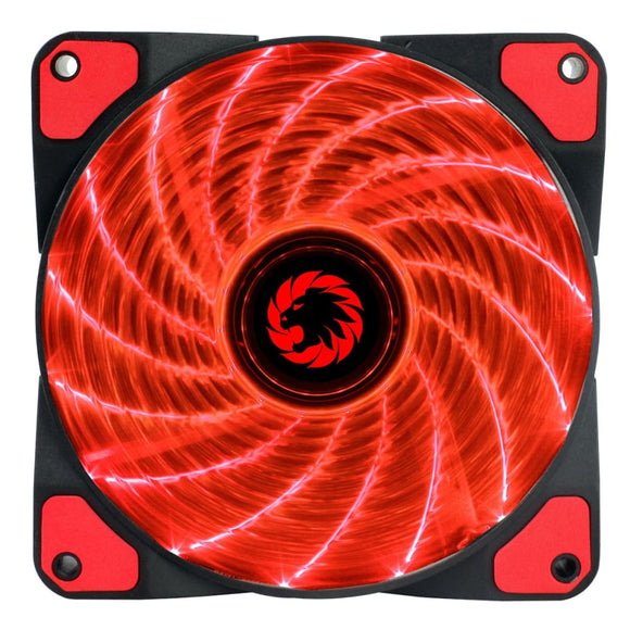 Game Max Storm Force 15 X Red Led 12Cm Cooling Fan With Hydraulic Bearings