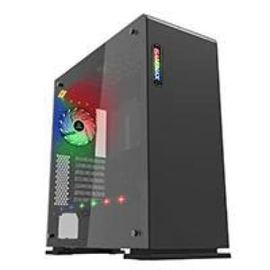 Game Max Vega Black Case With Rgb Strip & Pwm Controller Tempered Glass Sides