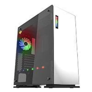 Game Max Vega White Case With Rgb Strip & Pwm Controller Tempered Glass Sides
