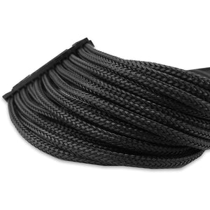 Gelid Black Braided 24-Pin Atx Extension - Sleeved Cable