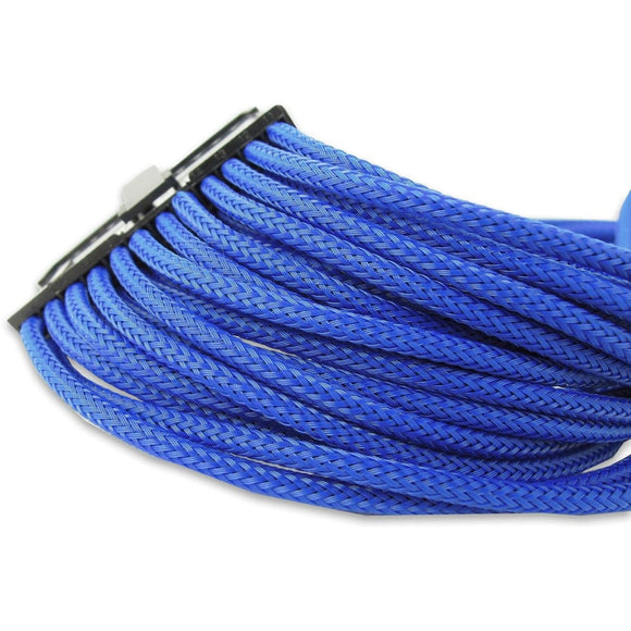 Gelid Blue Braided 24-pin ATX Extension - Sleeved Cable