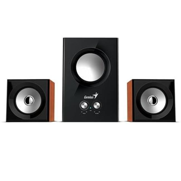 Genius Sw-2.1 375 2.1 Speaker System 12W Wood - Speakers