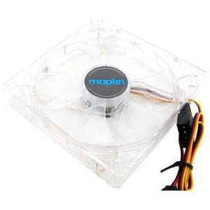 Maplin 120Mm 12Cm White Led Pc Case Fan - Case Fan