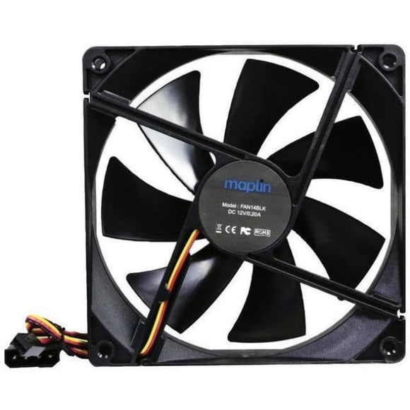Maplin 140Mm 14Cm Black Pc Case Fan - Case Fan