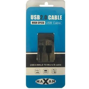 Maxam Usb Cable 2.0 Micro Data Cable 2 Metre - Usb Cable