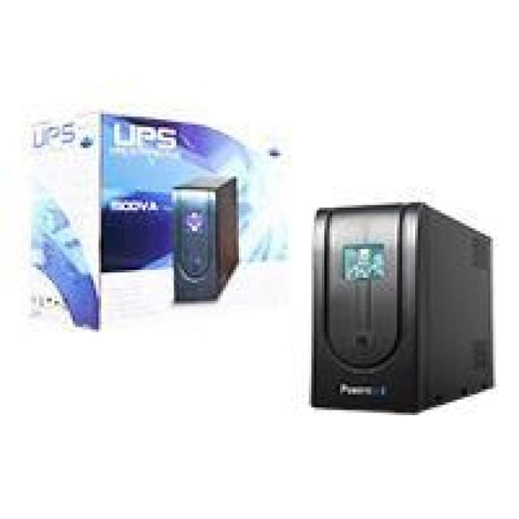 Powercool Smart Ups 1500Va 3 X Uk Plug 3 X Iec Rj45 X 2 Usb Lcd Display