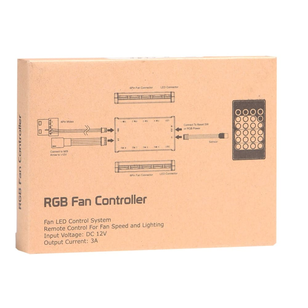 RGB PC Fan Controller With Remote Control System Adapter