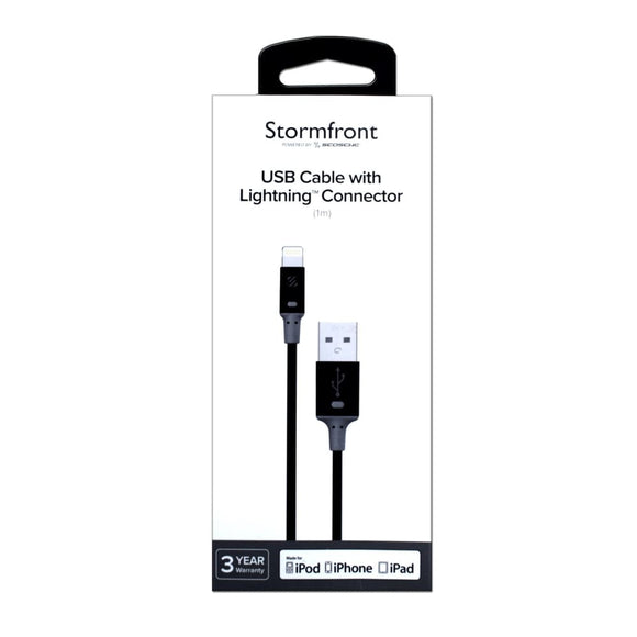 Stormfront Lightning To Usb Cable 1M Black