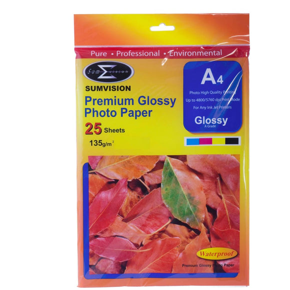 Sumvision 135Gm Glossy A4 Photo Paper 25 Sheet Pack - Photo Paper