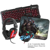 Sumvision - Led Gaming Keyboard Mouse Headset & Mouse Mat - Nemesis Kane Pro Edition 4 In 1 Chaos Pack - Keyboard