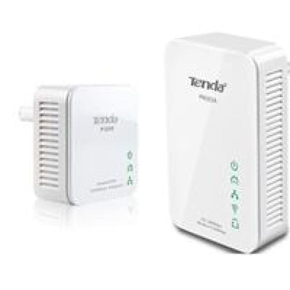 Tenda P200W-Kit Powerline Wireless Kit One P200 Single Mini Adapter & One Pw201A Wireless Powerline Adapter
