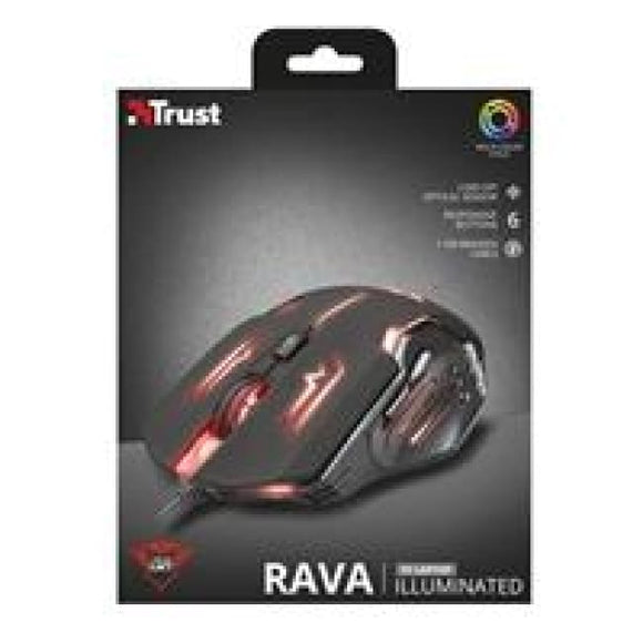 Trust 22090 Gxt Rava Usb 2.0 Illuminated Gaming Mouse