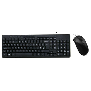 Uk Usb Keyboard & Mouse Combo Set Black