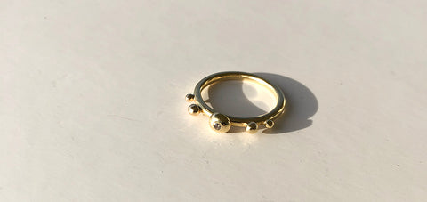 Bubble Ring Gold/Diamond
