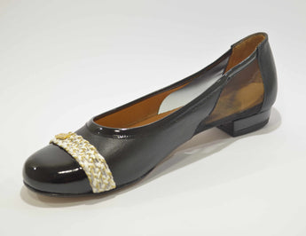 Women's Black Ballerina with Low Heel