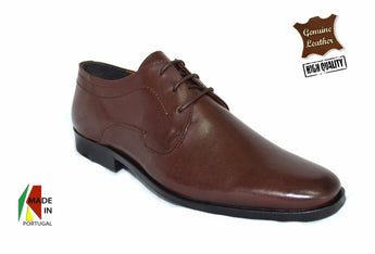 Brown Classic Leather Shoes in Genuine Leather