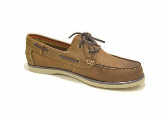 Men's Brown Boat Shoes in Genuine Leather