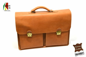 Tan Professor Satchel Leather Handmade