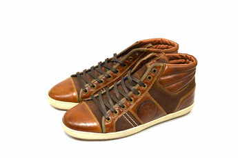 Men's Brown Chukka Boots In Genuine Leather Made in Portugal